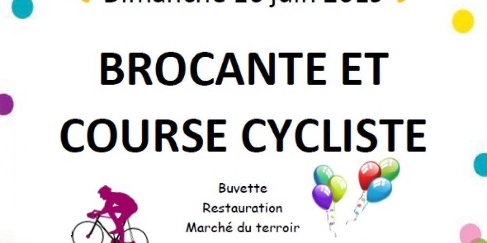 Brocante et course cycliste du 16 Juin 2019.